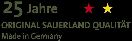25 Jahre Original Sauerland Qualität Made in Germany